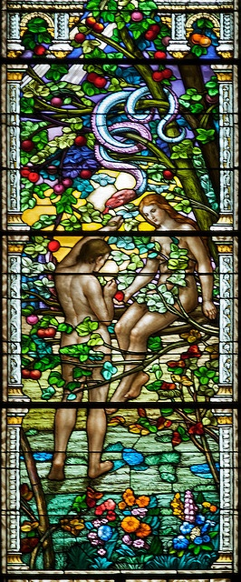 Original Sin Guido Nincheri, Saint-Léon de Wesmount - Adam and Eve in the Garden of Eden