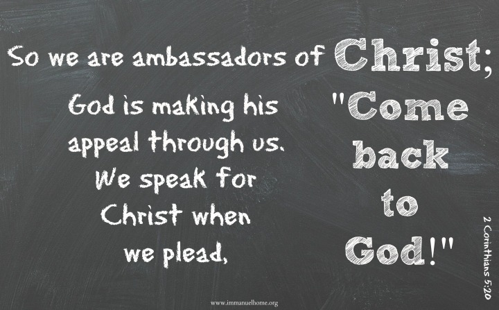 Blog 5.16.15 Ambassadors of Christ